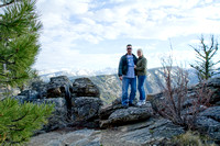 Tom & Erin, Lookout above Lost Horse Creek